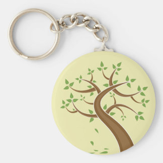 Tree ~ Green Earth Trees Nature Environment Key Chain