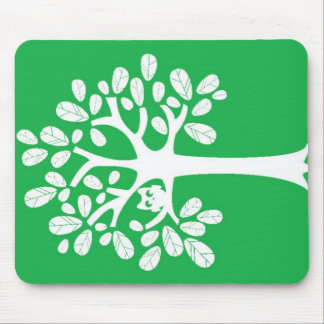 Tree_Green Mouse Pads