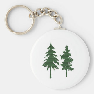 TREE Green Wild Environment Jungle Wood NVN712 Basic Round Button Key Ring