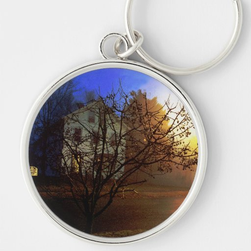 Tree House – Gold and Blue Glory Keychain