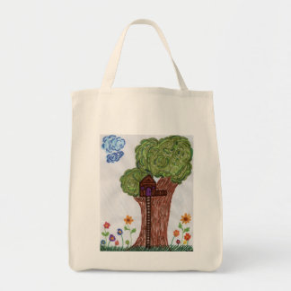 Tree House Grocery Tote Bag
