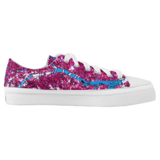 Tree House (magenta & turquoise) Printed Shoes
