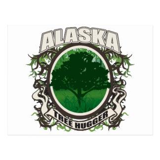 Tree Hugger Alaska Postcard