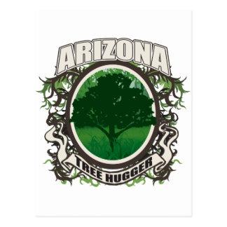 Tree Hugger Arizona Postcard