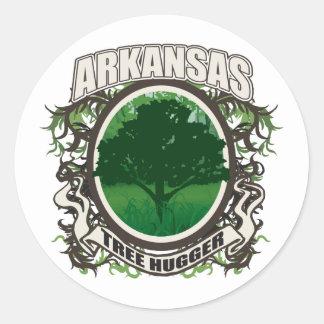Tree Hugger Arkansas Classic Round Sticker