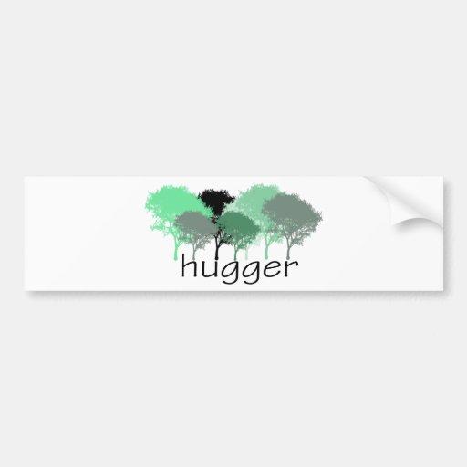 Tree Hugger! Cute Trees design! Bumper Stickers