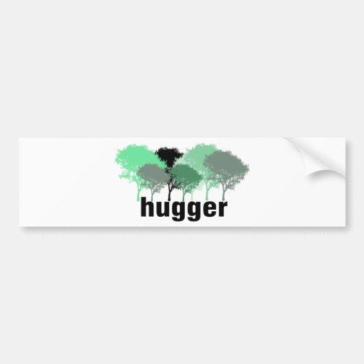 Tree Hugger! Cute Trees design! Bumper Sticker