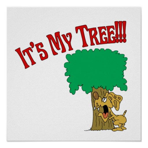 Tree Hugger Dog Poster