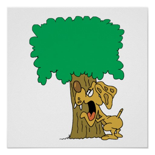 Tree Hugger Dog Posters