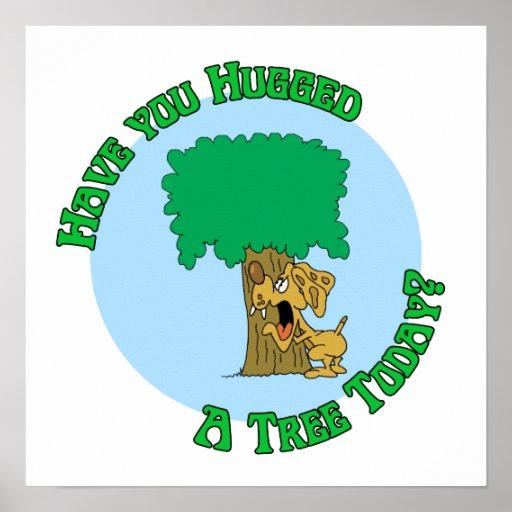 Tree Hugger Dog Print