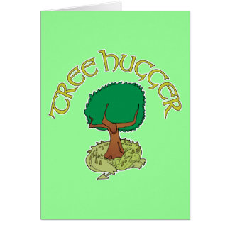 Tree Hugger Dragon Note Card