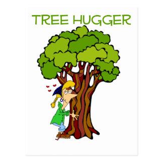 Tree Hugger - Girl Post Card