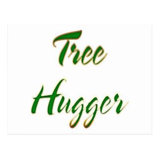 Tree Hugger Green Postcard