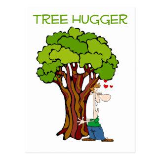 Tree Hugger - Guy Postcard