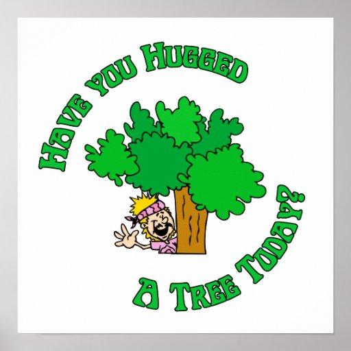 Tree Hugger Hippie Poster