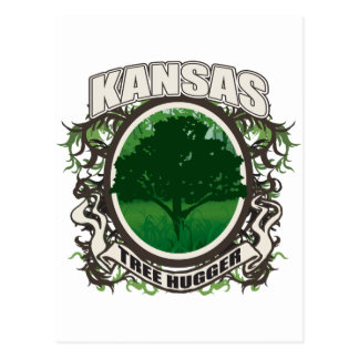 Tree Hugger Kansas Postcards