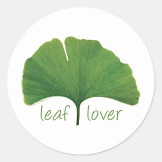 Tree Hugger, Leaf Lover - Ginkgo Round Stickers