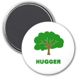 Tree Hugger 3 Inch Round Magnet