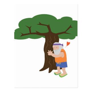 Tree Hugger Man Postcard