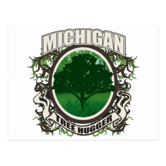 Tree Hugger Michigan Postcard