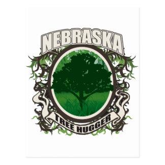 Tree Hugger Nebraska Postcard