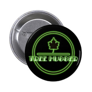 Tree Hugger Neon Button