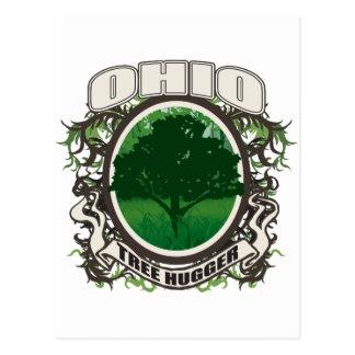 Tree Hugger Ohio Postcard