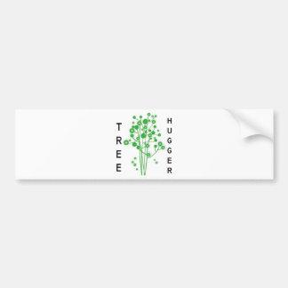 Tree Hugger original design! Bumper Stickers