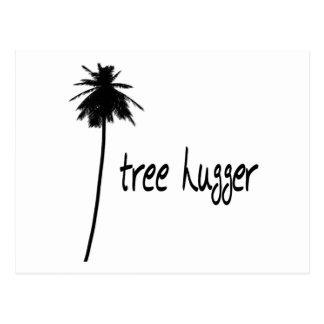 Tree Hugger Palm Design! Postcard