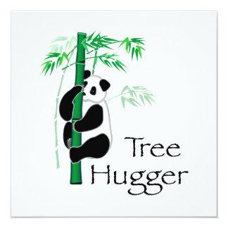 Tree Hugger Panda 13 Cm X 13 Cm Square Invitation Card