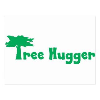tree hugger postkarte