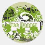 Tree Hugger Round Stickers