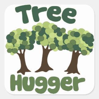Tree Hugger Square Sticker