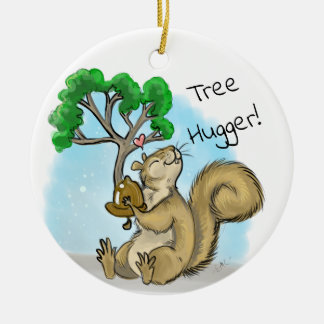 Tree Hugger! Squirrel Christmas Ornament