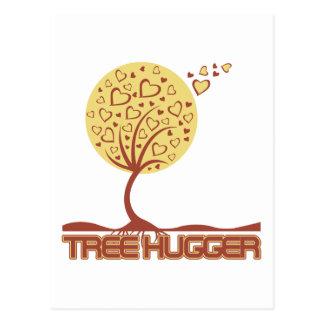 Tree Hugger Tree Hearts Postcard