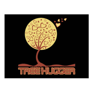 Tree Hugger Tree Hearts Post Card