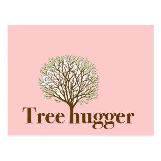 Tree Hugger w/ tree illustration Postcard