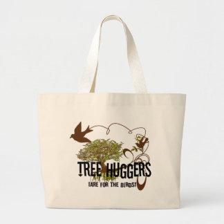Tree Huggers 4 the Birds Change colors Jumbo Tote Bag