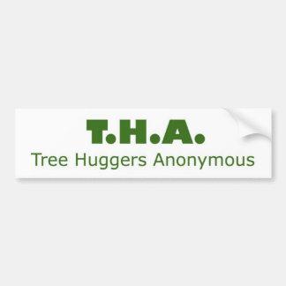 Tree Huggers Anonymous Bumper Sticker