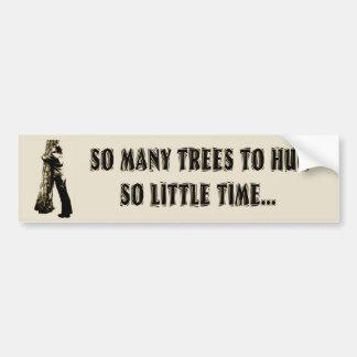 Tree huggers unite bumper stickers