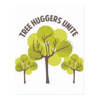 Tree Huggers Unite Postcard