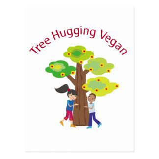 Tree Hugging Vegan Postcard