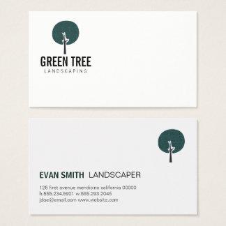 Tree Icon / Landscaper Business Card