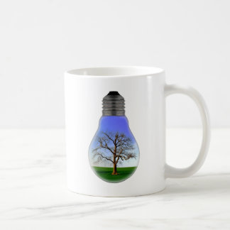 Tree in a Light Bulb Coffee Mug