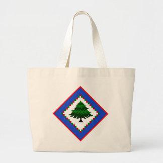 Tree in Diamond Design on Jumbo Tote Bag
