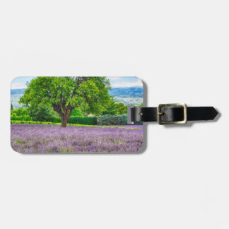 Tree in Lavender Field, France Luggage Tag
