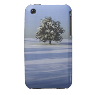 Tree in snow covered landscape iPhone 3 covers
