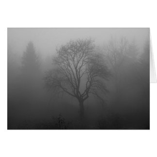 Tree in the fog card