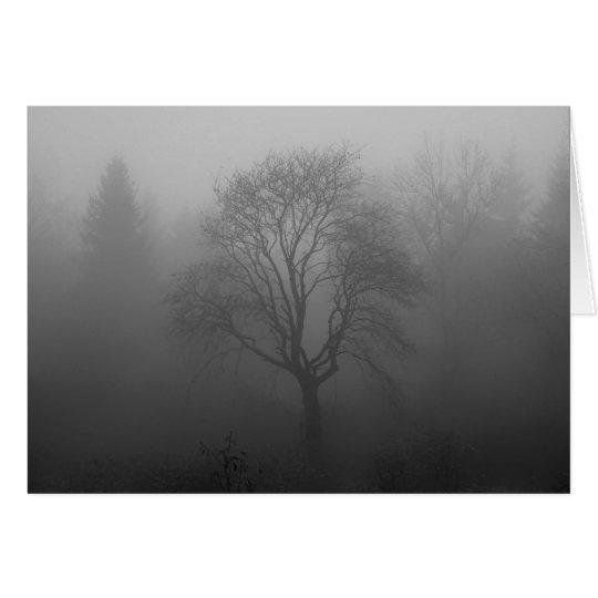 Tree in the fog card