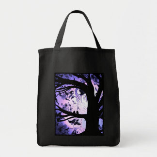 Tree in the Lilac Garden grocery tote Grocery Tote Bag